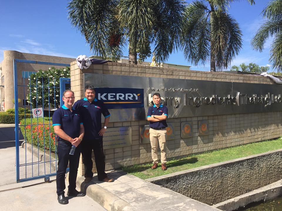 Andrew, Jeffery and JK onsite at Kerry in Thailand wearing our new Wiley Tricharoen branded polo shirts